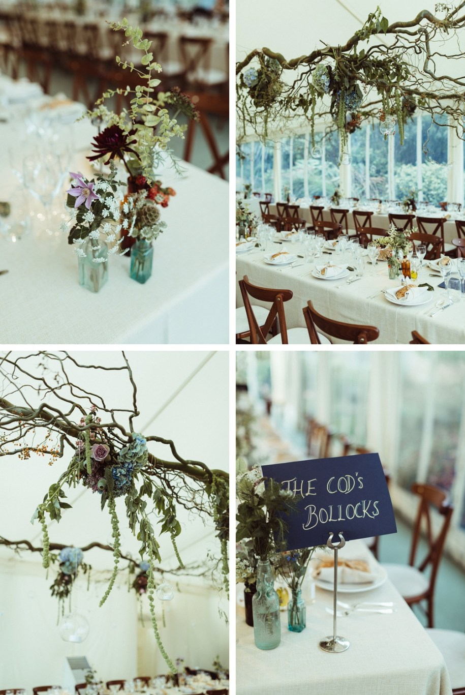 wedding reception details during New forest Wedding in South West England