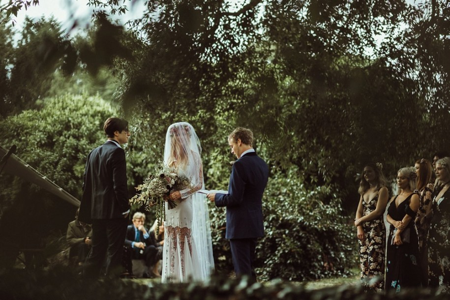 outdoor wedding ceremony for New Forest wedding in South West England