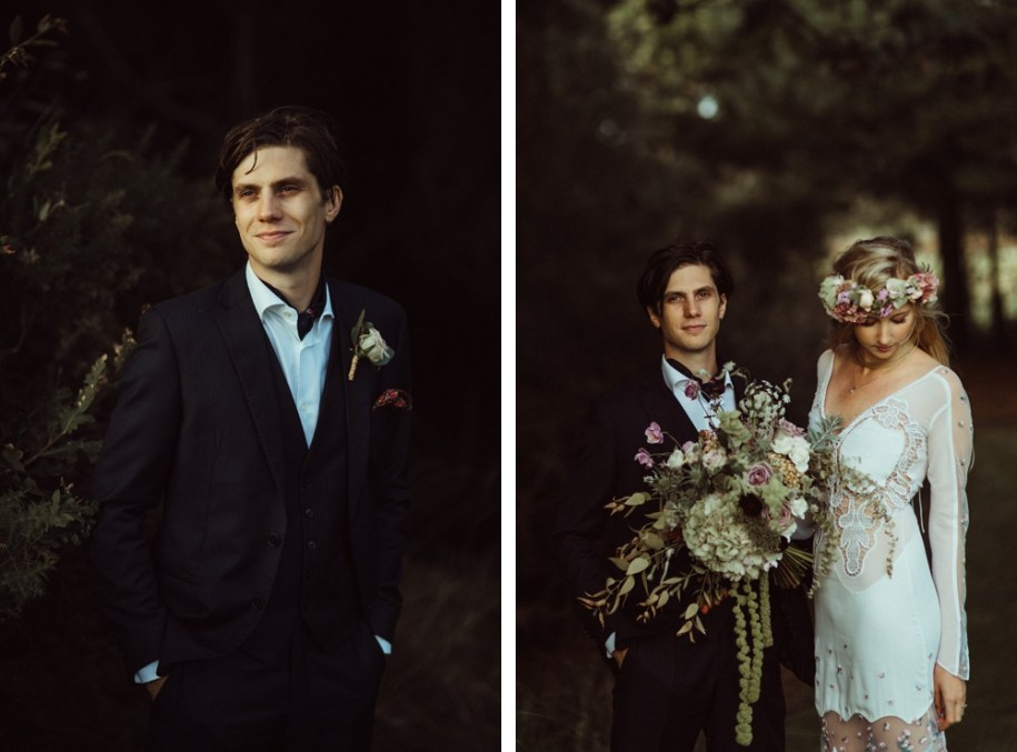 bride and groom portraits in New Forest