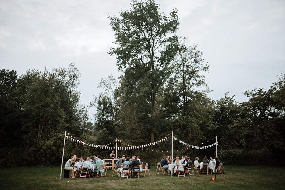 outdoor wedding reception idea