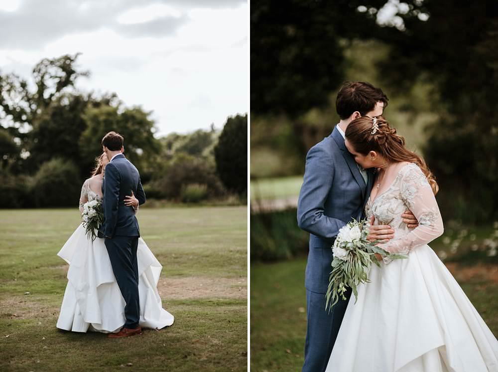 bride and groom portraits at northbrook park wedding
