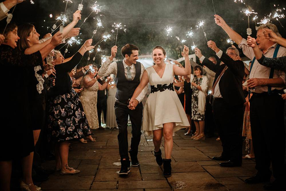 sparklers exit at northbrook park wedding