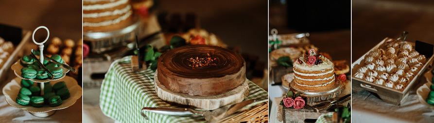dessert table for Wanborough Great Barn Wedding