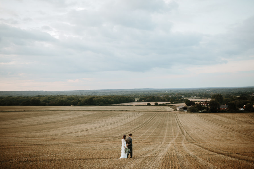 wedding portraits at Wanborough Great Barn Surrey