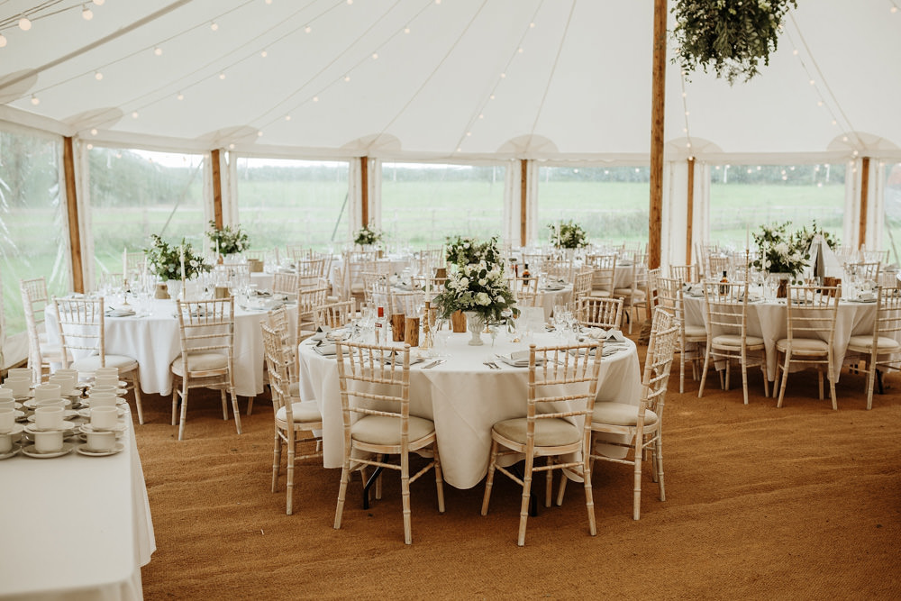 reception decor for marquee wedding dorset