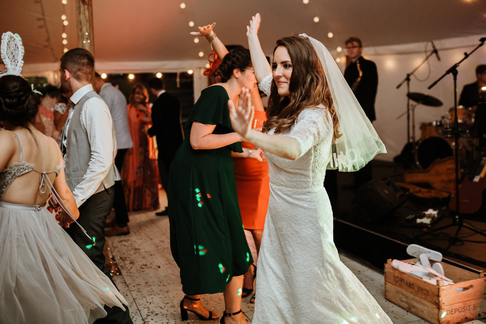 dances during private property marquee wedding