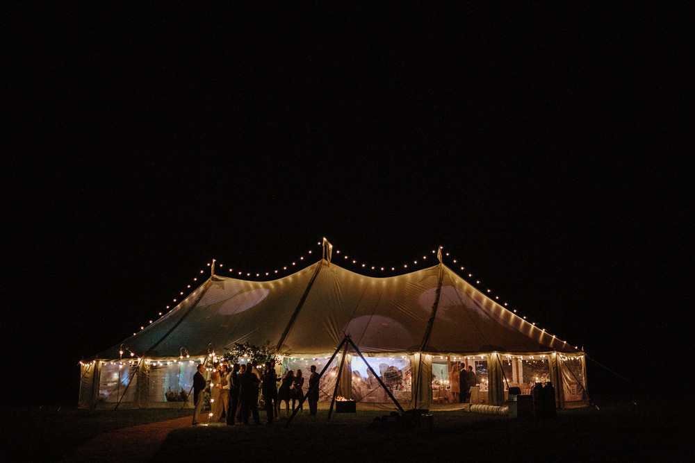 marquee wedding at night
