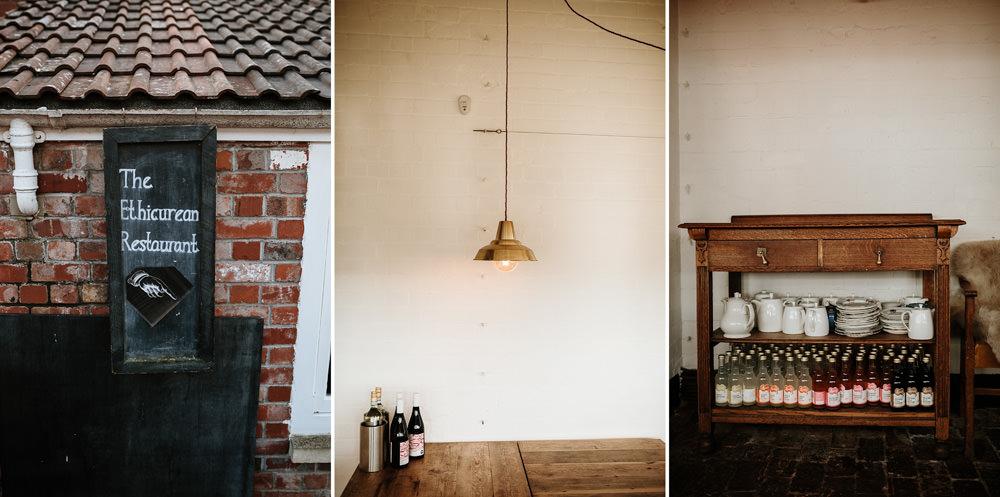 details from the Ethicurean restaurant near Bristol