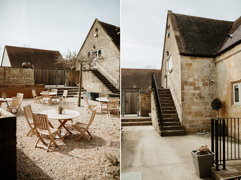Garden details at Lapstone Barn wedding venue Cotswolds