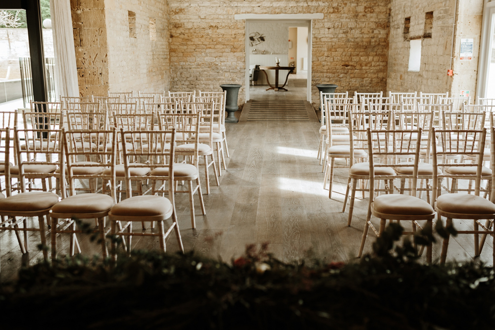wedding ceremony for Lapstone Barn Venue