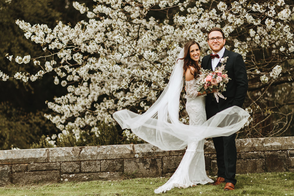 bride and groom portraits during their plas dinam country house wedding