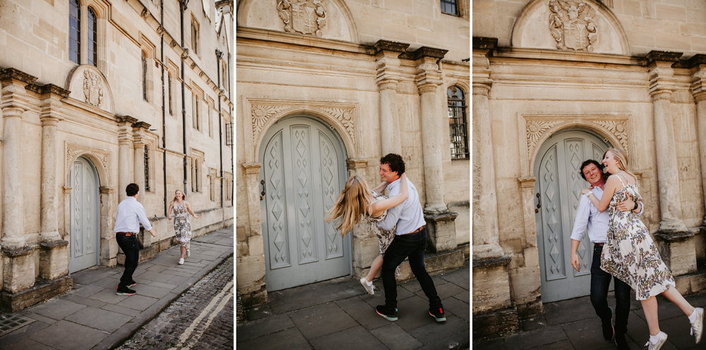 fun engagement photos in Oxford city