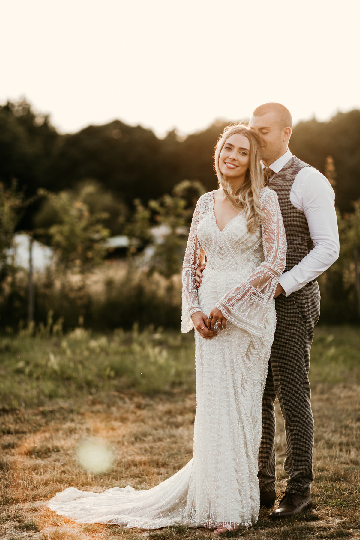 wedding portraits by preston court wedding venue by Canterbury wedding photographers during the festival style wedding at preston court wedding venue by Canterbury wedding photographers