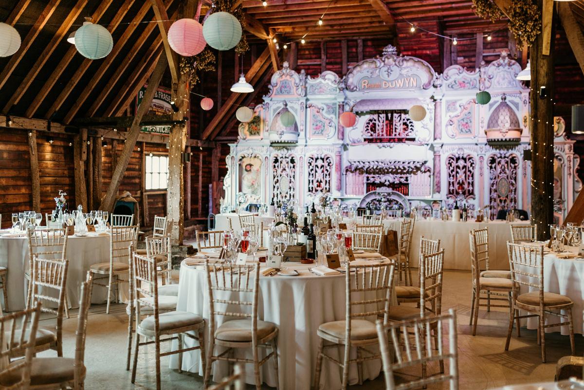 table setting for wedding at preston court wedding venue by Canterbury wedding photographers