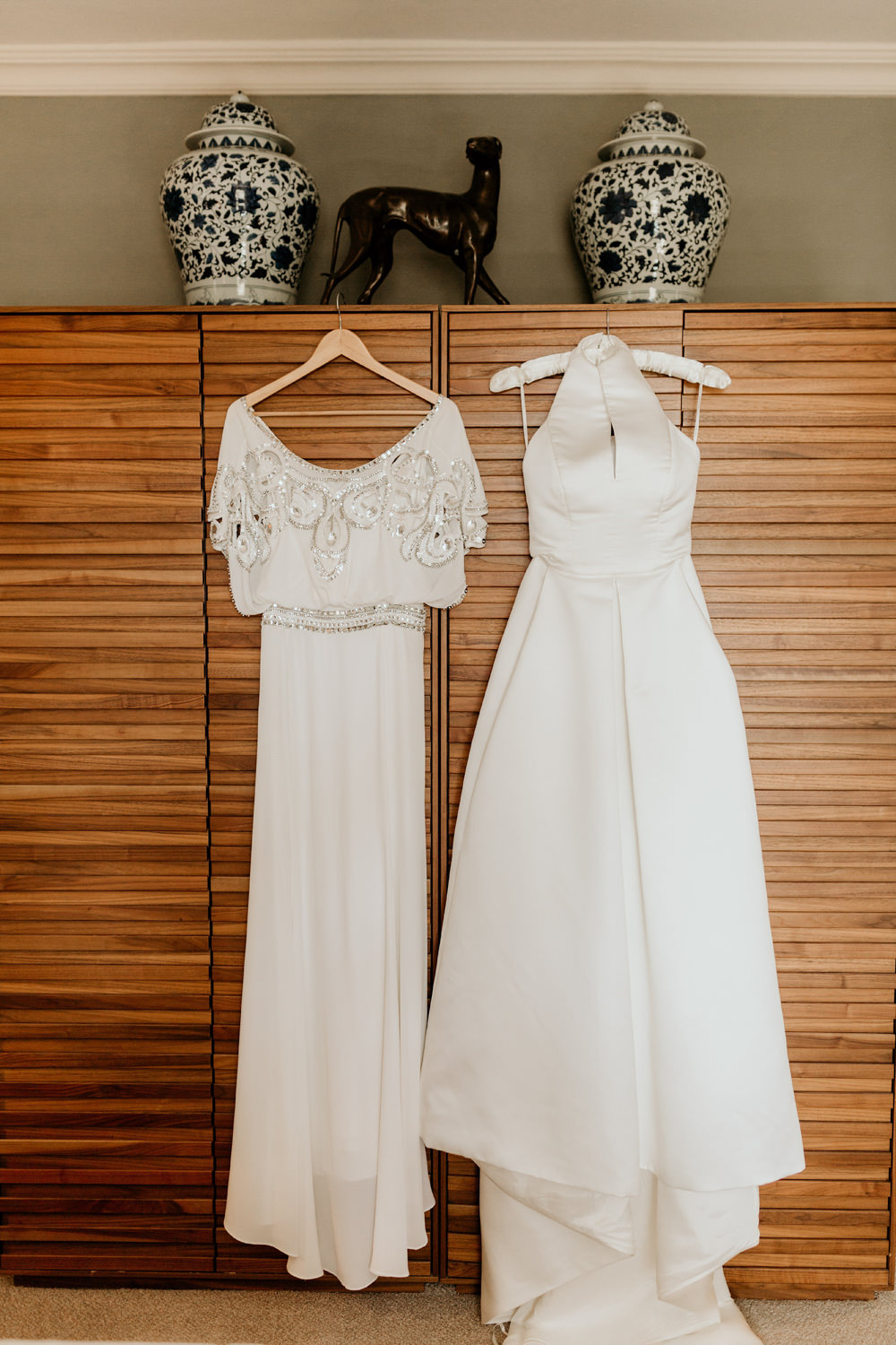 Alice Temperley wedding dress and a Jesus Peiro wedding dress