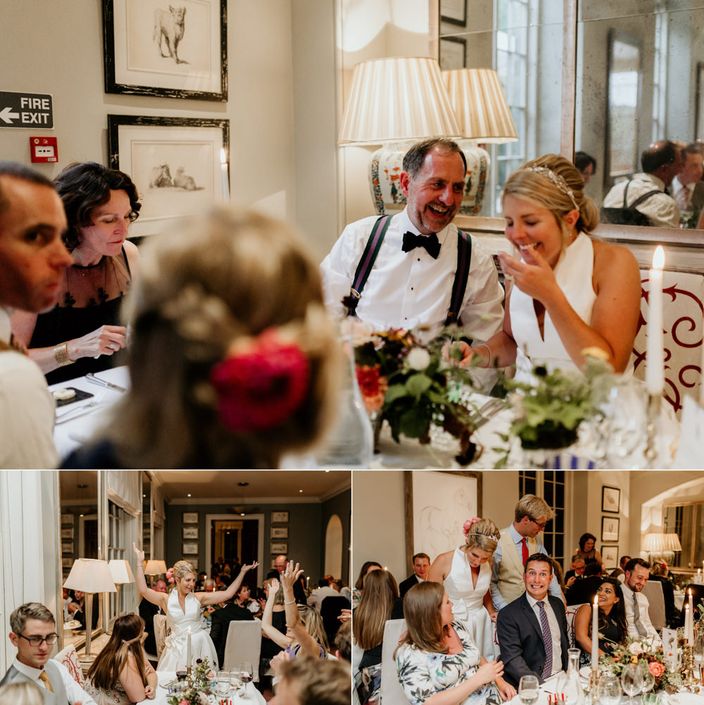 wedding reception at The Kennels Goodwood wedding venue Chichester wedding photographer | Green Antlers Photography