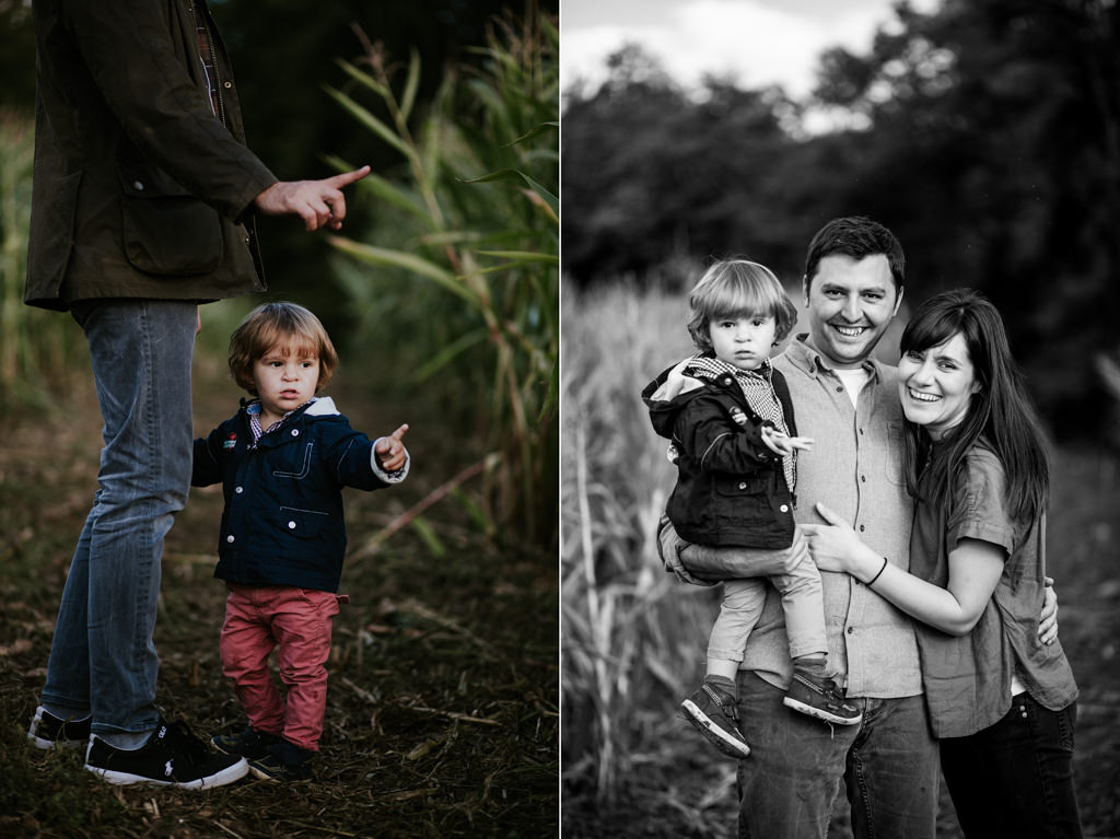 family portrait of cotswolds wedding photographers at broadway tower in the cotswolds