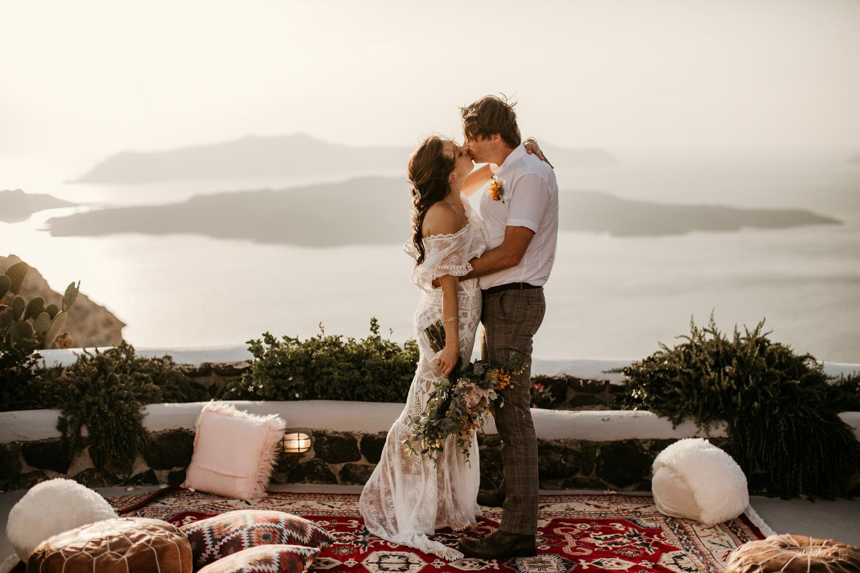 Santorini wedding at Venetsanos Winery