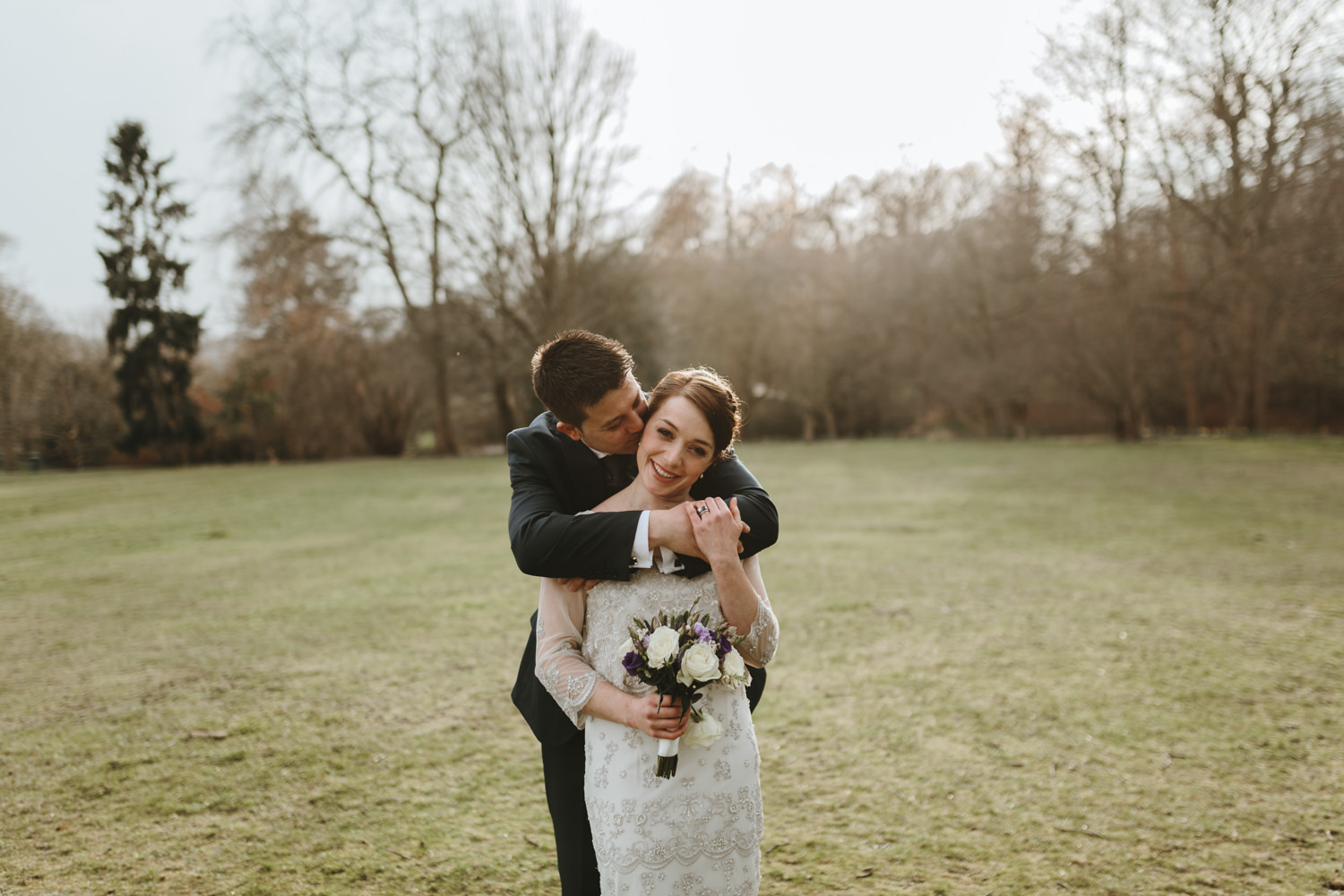 couple portraits in the park at Wimbledon common London