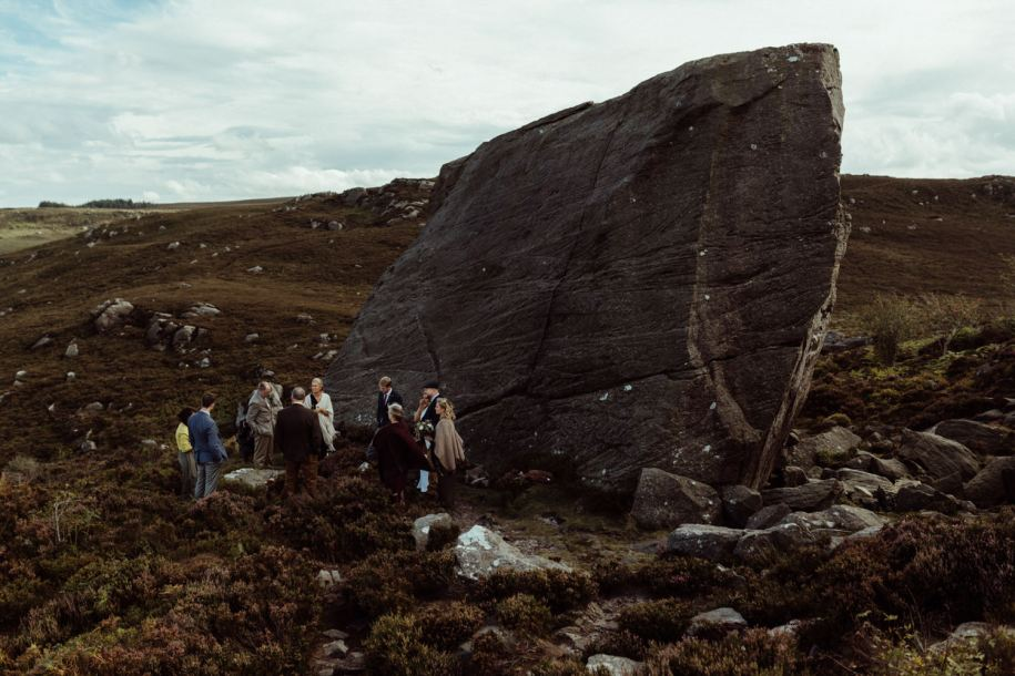 outdoor wedding ceremony for an elopement in Northumberland
