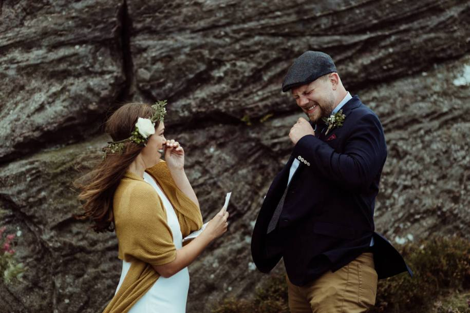 wedding vows for an outdoor wedding ceremony in the North England
