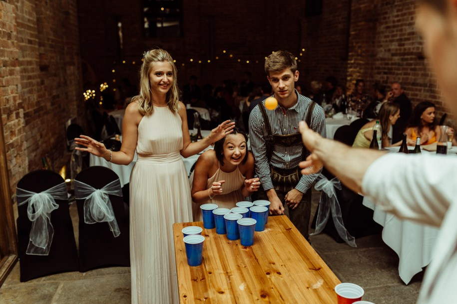beer pong wedding reception ideas