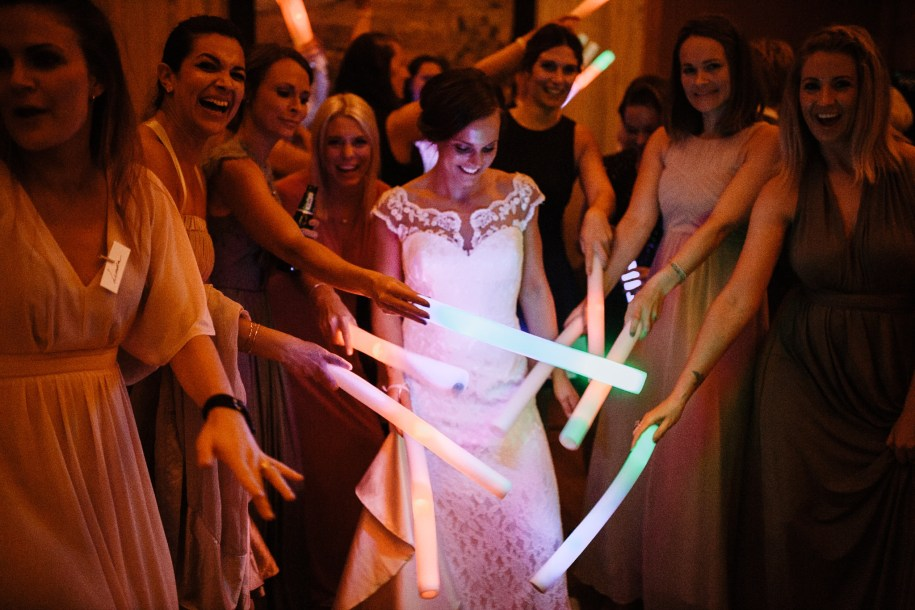 glow sticks for wedding reception entertainment ideas