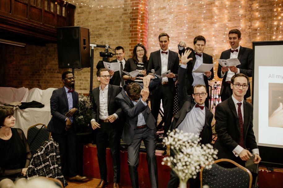 slideshow sing-along wedding reception ideas