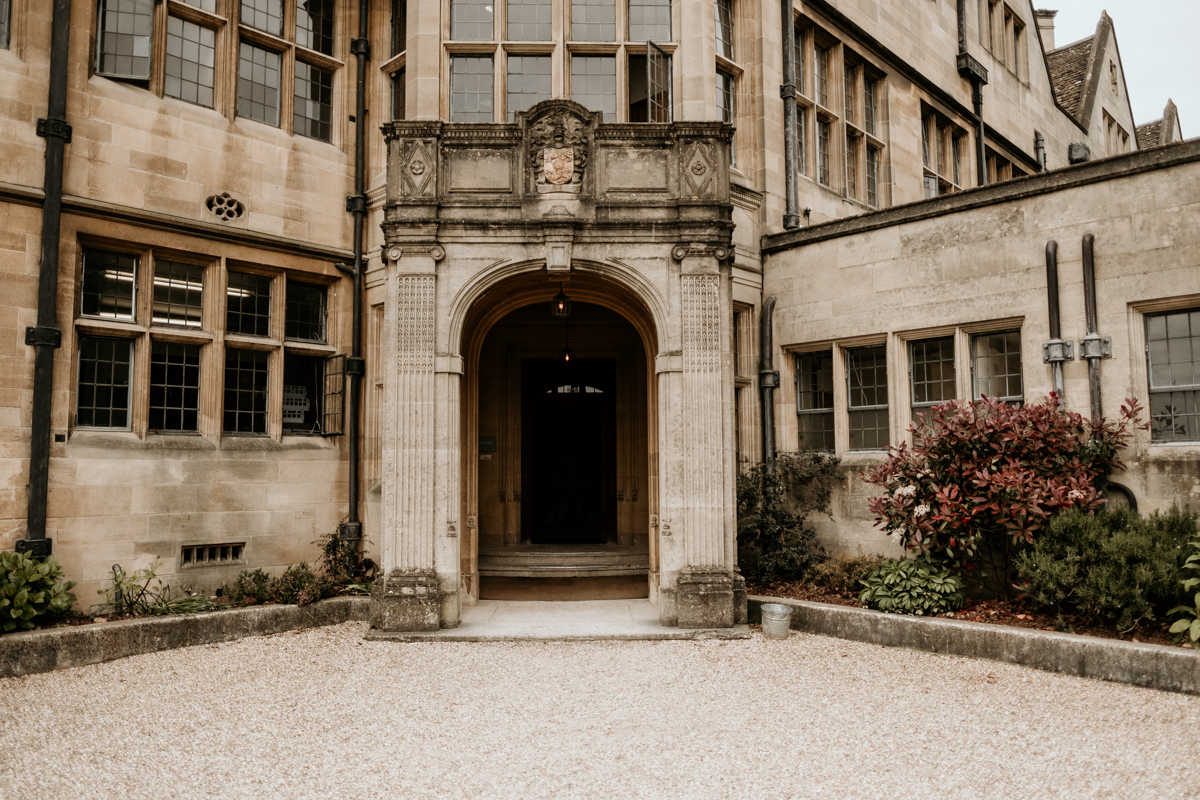 entrance at Coombe Lodge Blagdon manor