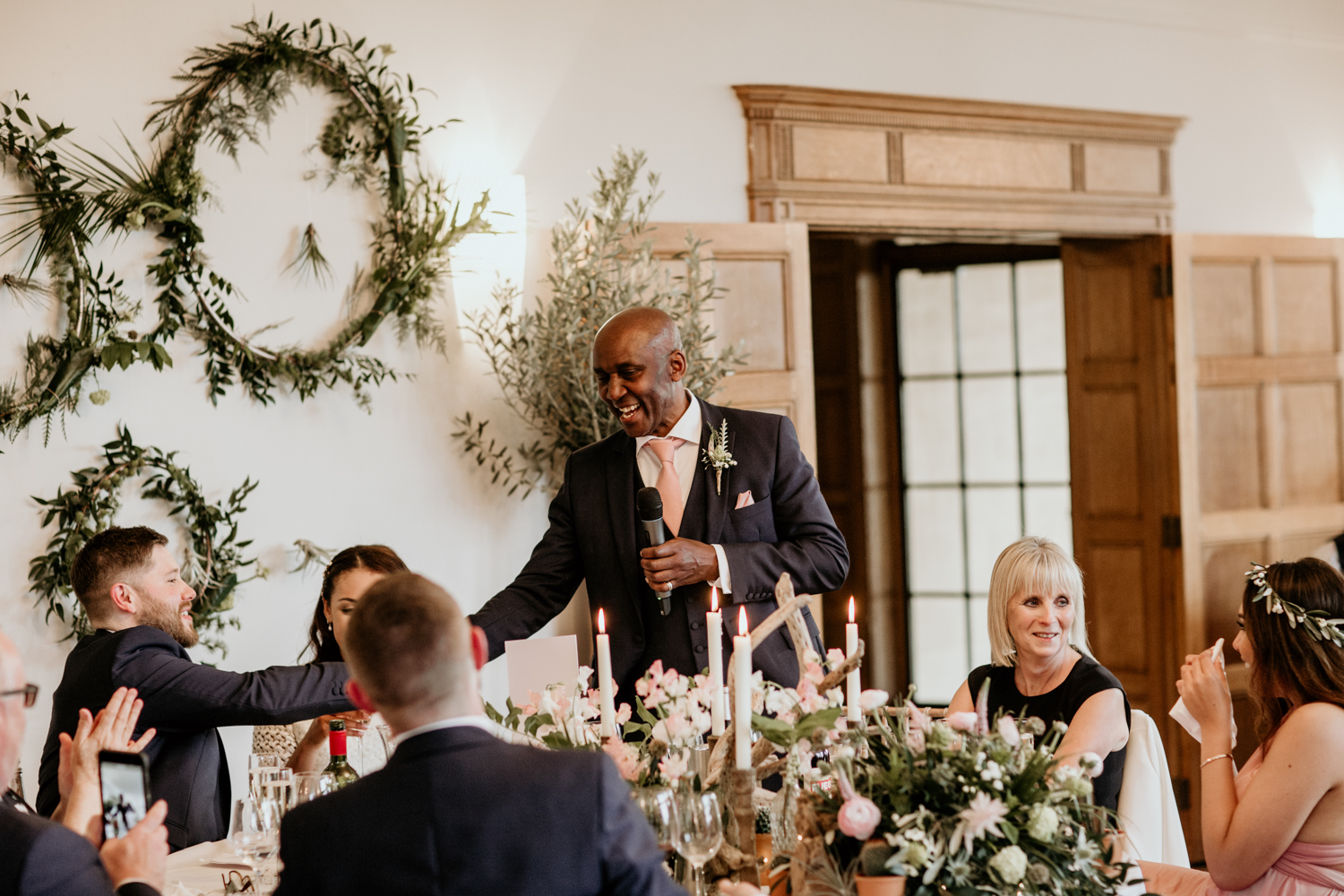 father of the bride speech for a wedding reception at Coombe Lodge Blagdon wedding