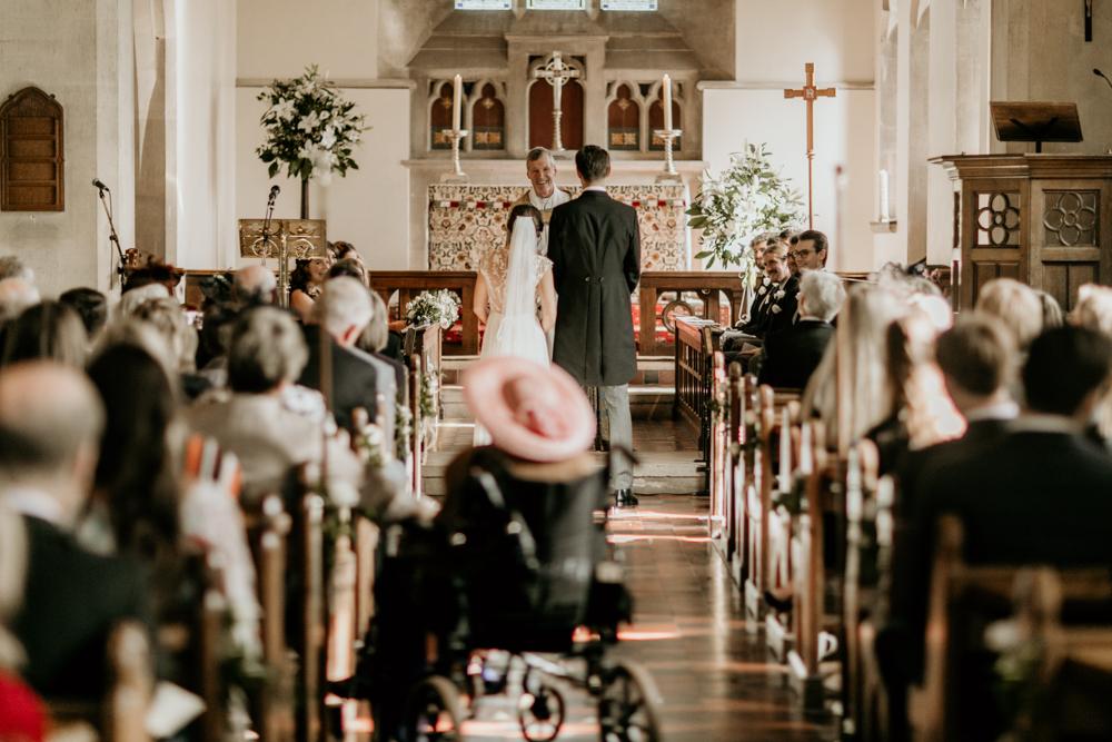 wedding ceremony in Poulton village Cotswolds