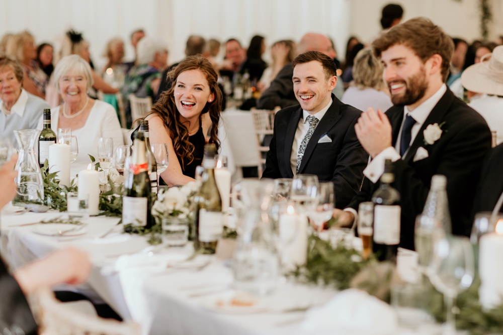 guests having fun during a poulton wedding