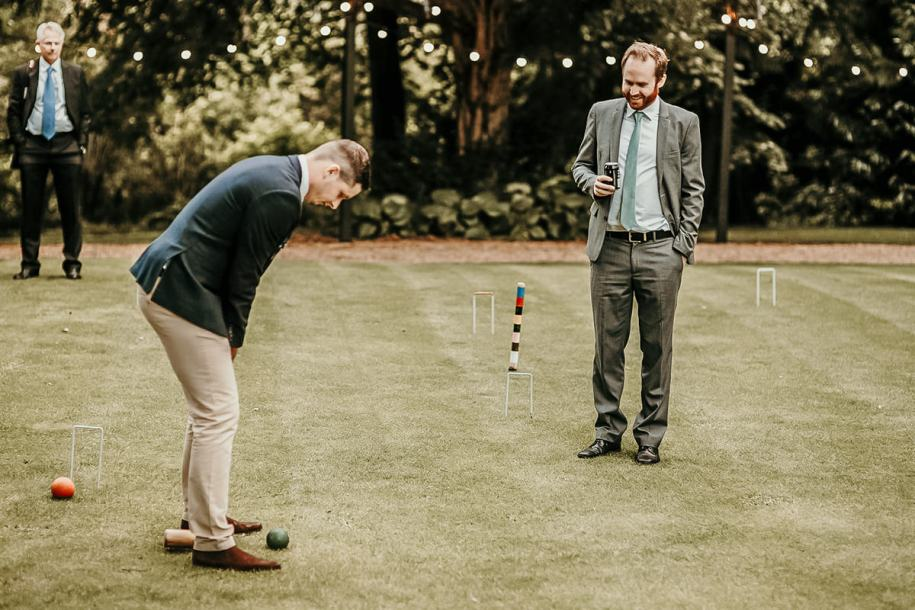 wedding cocktail hour games croquet