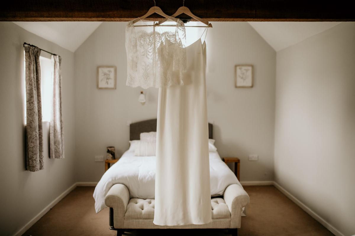 Laure de Sagazan 2 piece wedding dress