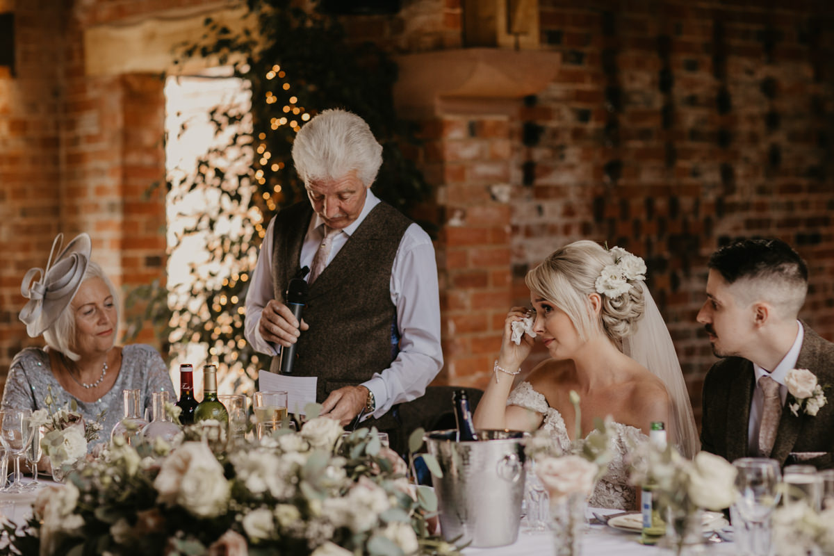 dad's speech for a Shustoke Barn wedding in Warwickshire
