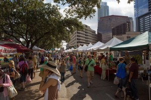 downtown Austin farmer's market