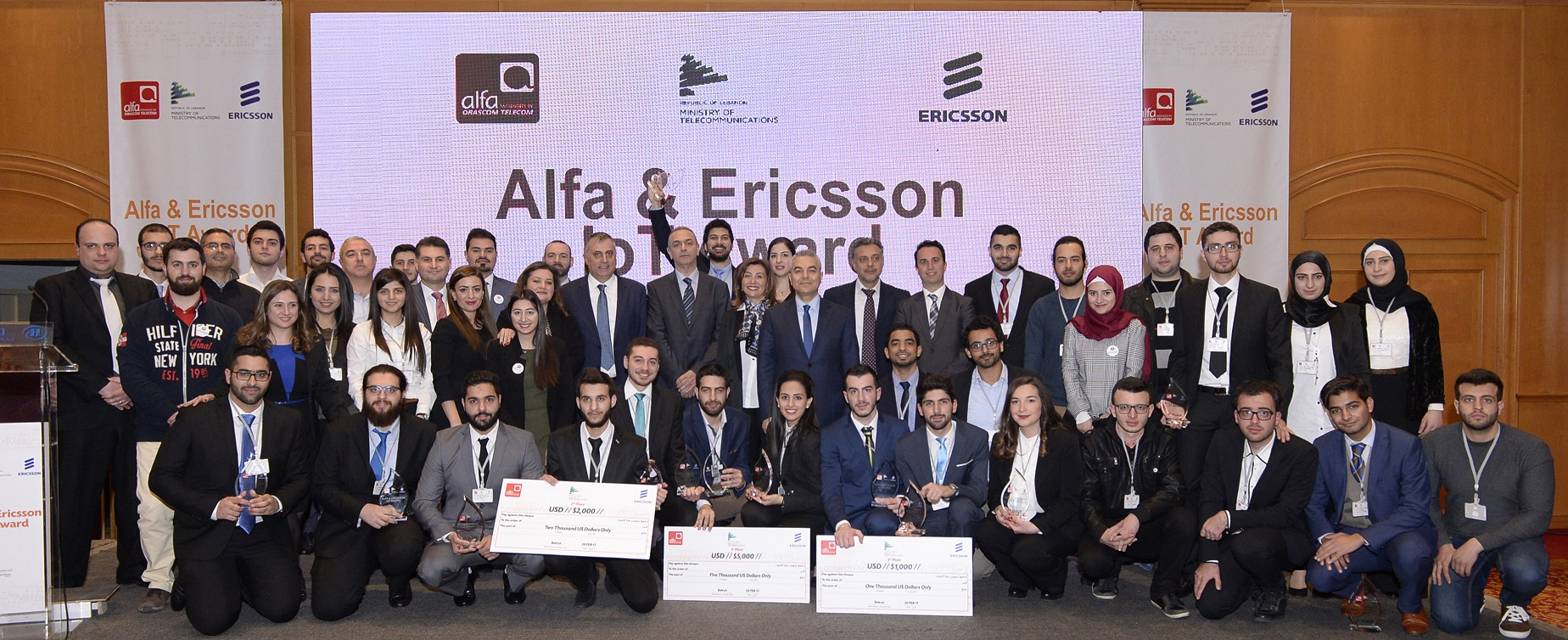 Under the auspices of His Excellency the Minister of Telecommunications Jamal Jarrah…Winners of Alfa & Ericsson IoT Award announced after Tough Competition