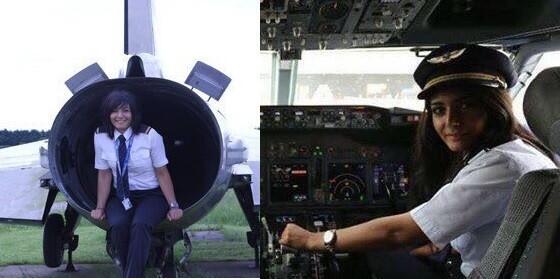شابّة تقود طائرة… وأوّل رحلة الى بيروت