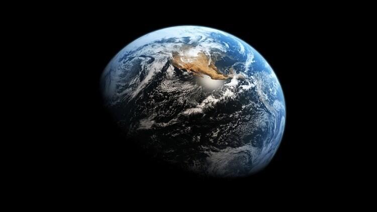 """""""ظل غامض"""" يظهر على الأرض أثناء تصويرها من الفضاء"""