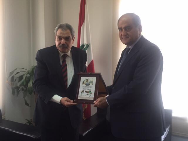 وزير البيئة التقى مدير مركز بازل الاقليمي