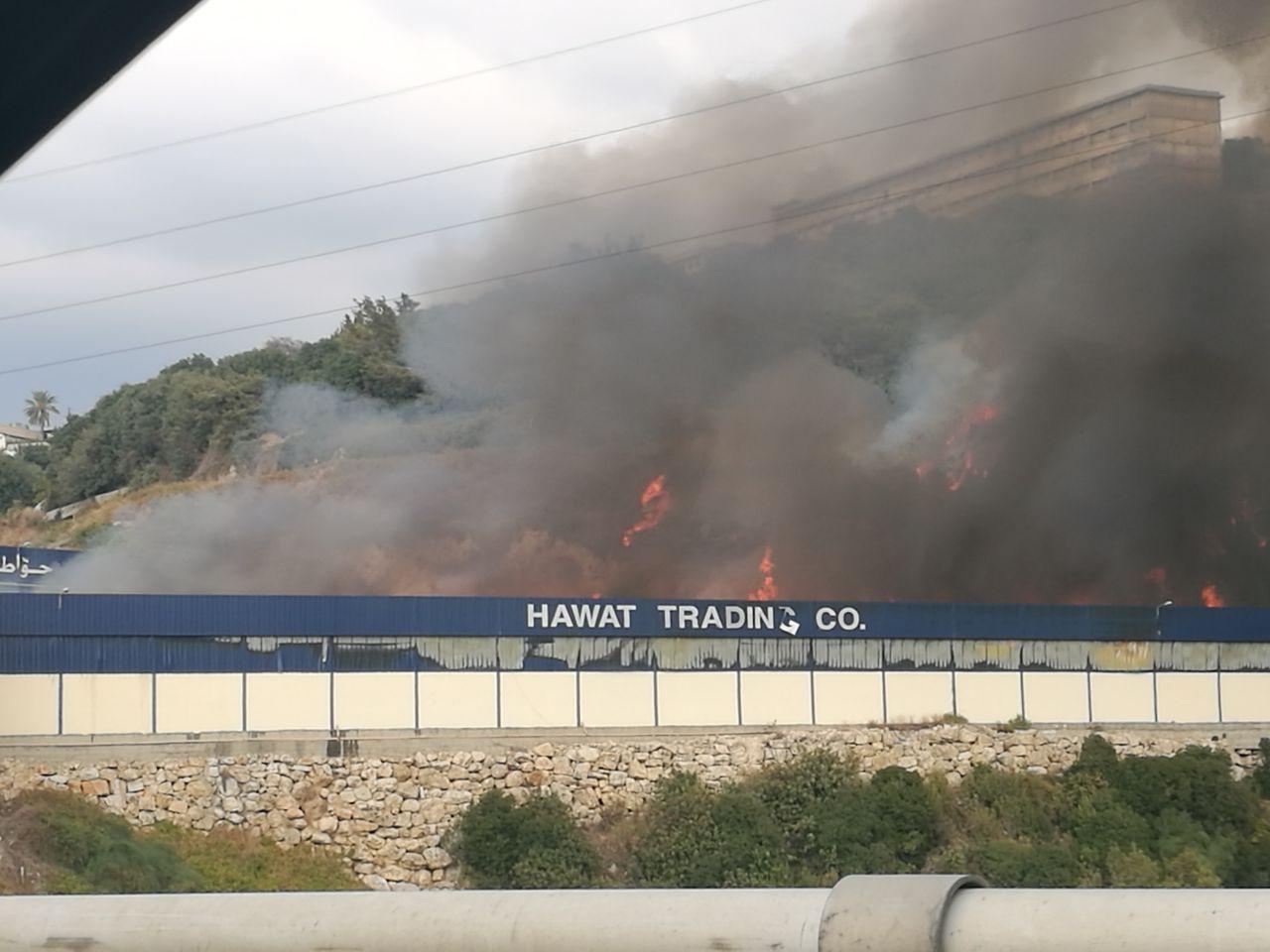 حريق  في معمل خشب حواط