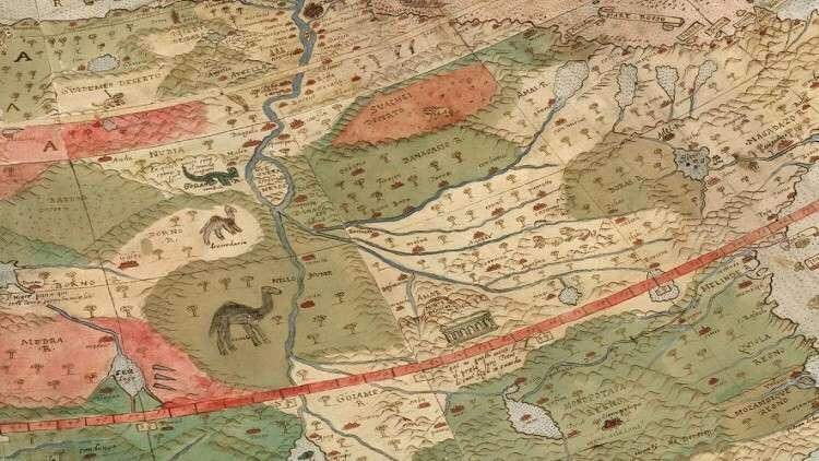 تجميع أغرب خريطة للعالم رسمت قبل أكثر من 400 عام
