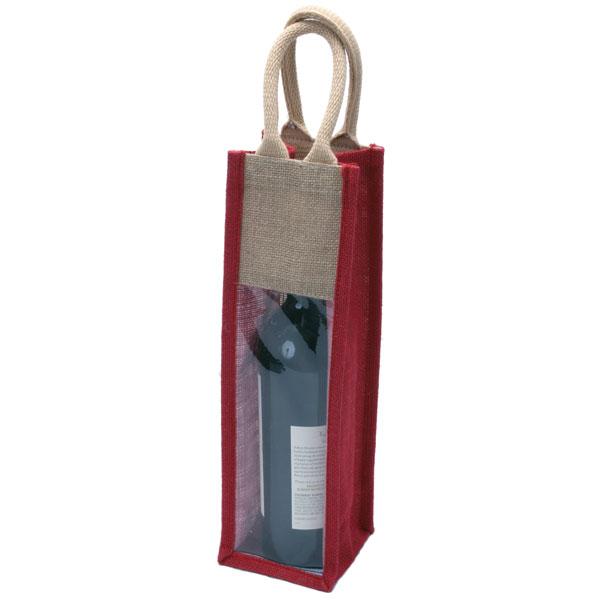 1 Bottle Natural Eco-friendly Jute Wine Bag
