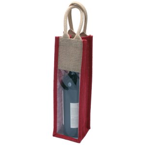 1 Bottle Natural Eco-friendly Jute Wine Bag