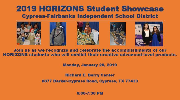 Horizon Showcase for Gifted and Talented Students