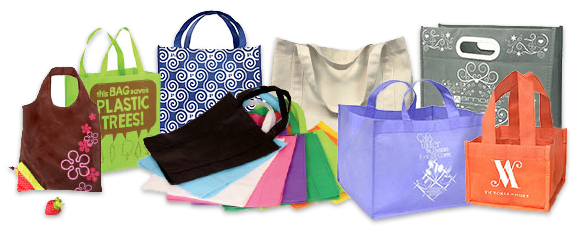 Custom eco-friendly reusable bags.
