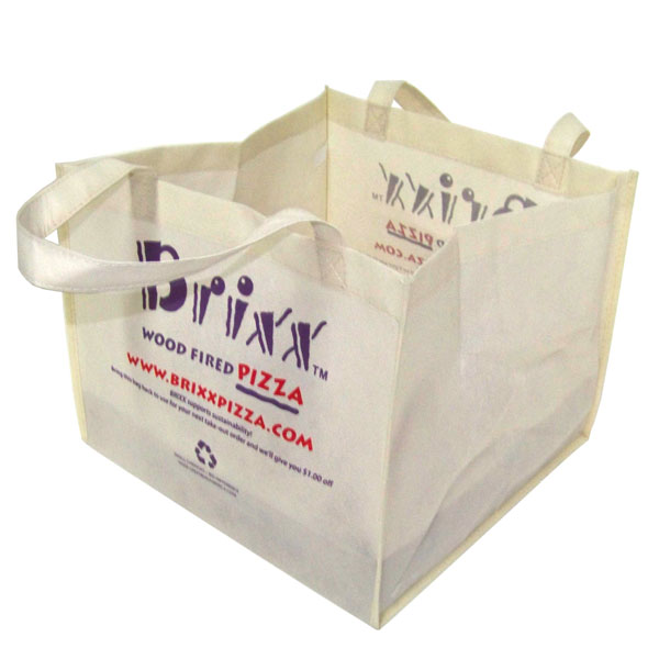 Eco-friendly Brixx pizza to go bag
