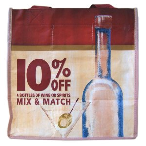 Eco-friendly Full Color 6 Bottle Wine Bag