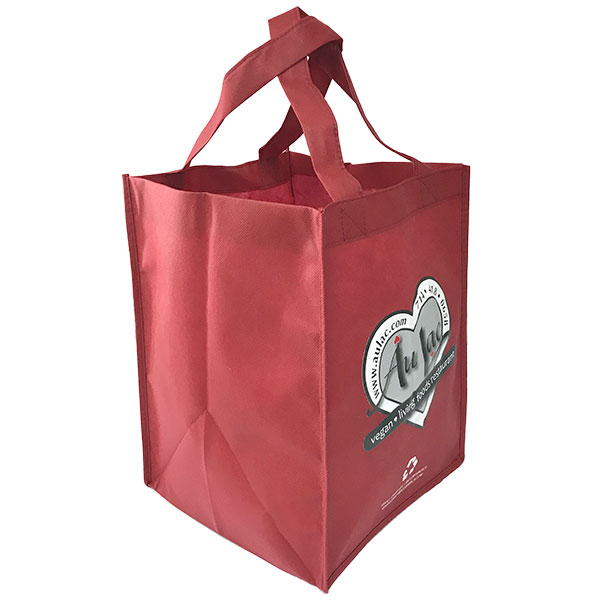 Eco-friendly tall to go bag - burgundy