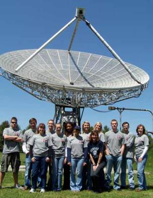 College student group at the 40 Foot Telescope